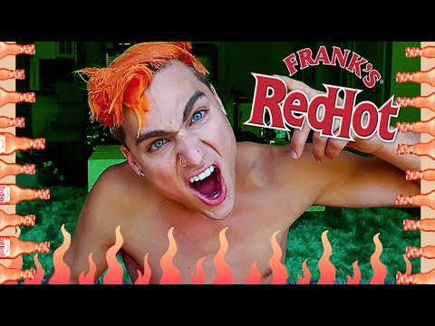DYING MY HAIR w/ HOT SAUCE!! *IT WORKS* (suprise ending)