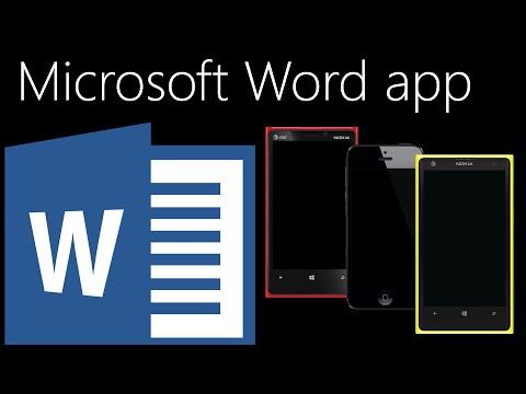Microsoft Word Mobile App Comparison (Windows 10, iOS 8, Windows Phone 8.1)