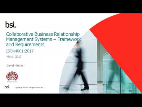 Introduction to ISO 44001 Webinar 09 03 2017