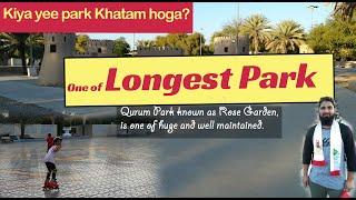 Longest Park in Oman Muscat - Qurum Natural Park known as Rose Garden
