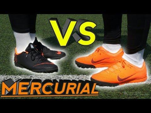 Тест + Сравнение ДЕШЕВЫХ и ДОРОГИХ  Сороконожек ⚫ Nike Mercurial Vapor 12 Pro VS Vapor 12 Academy