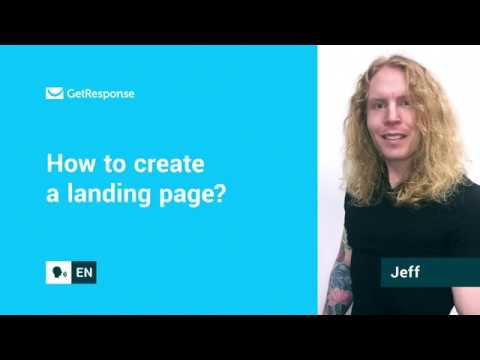 How to create a landing page? | GetResponse FAQ