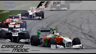 F1 2011 Career Mode - Part 2 Malaysian Grand Prix