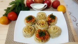 Гульханум или манты. Узбекская кухня. Gulhonim
