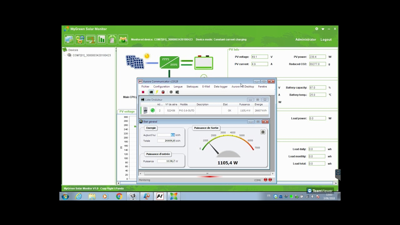 Esmart3 Solar Monitor Youtube