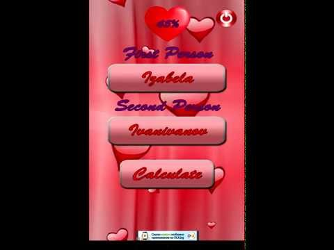 Love calculator test - Android app