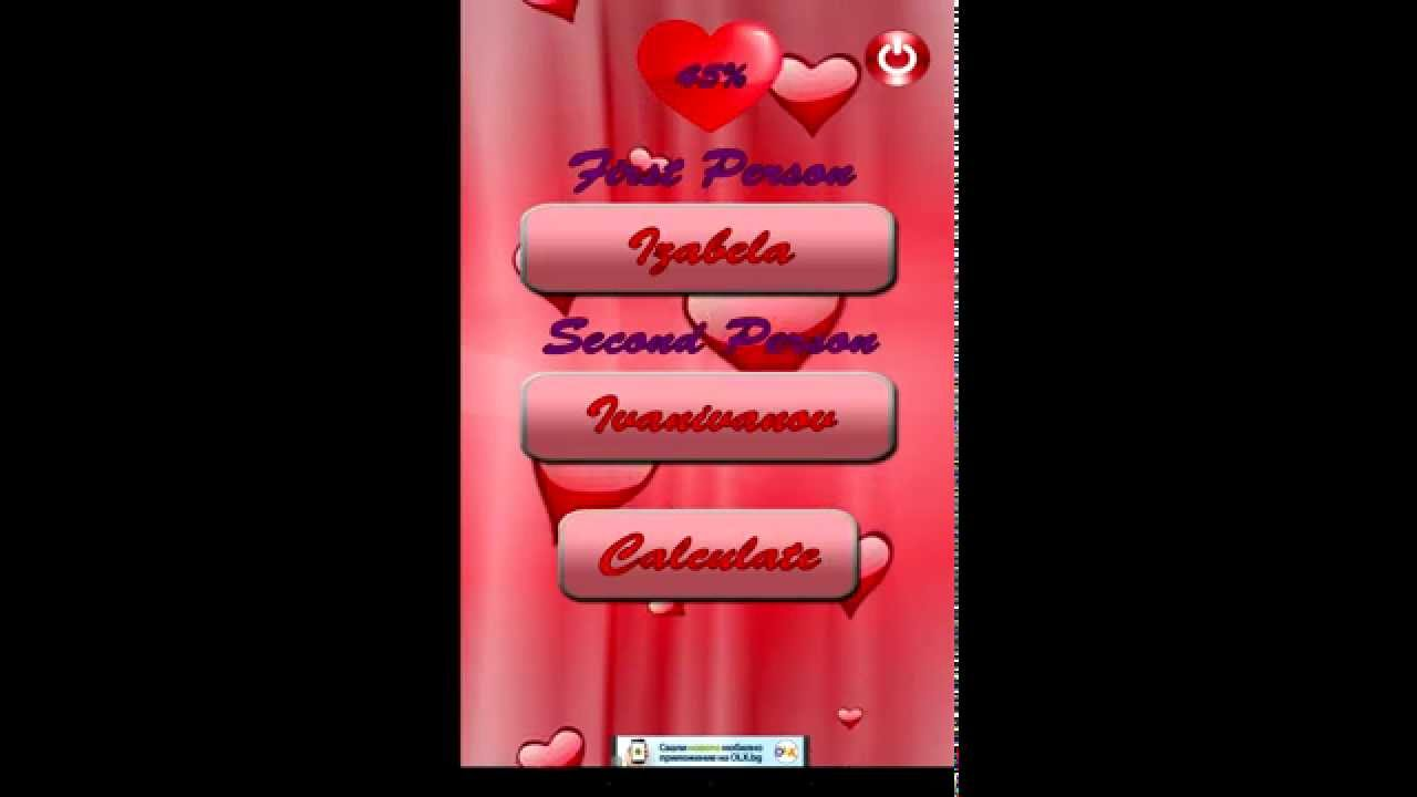 Love calculator test - Android app - YouTube