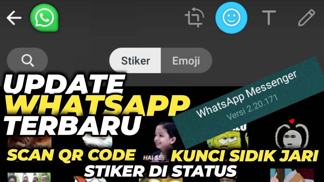 Cara menambahkan Stiker di status whatsapp dengan Whatsapp ...
