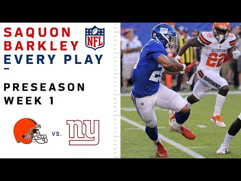 Every Saquon Barkley Play in NFL Debut vs. Browns