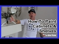 How To Paint Cabinet Doors.  Painting kitchen cabinets EASY