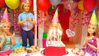 Barbie Happy Birthday Party! Boneka Barbie Ulang Tahun Barbie Festa De Aniversário