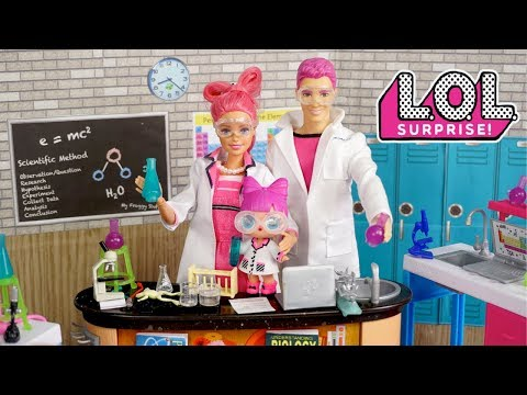 Barbie Doll LOL Family School Morning Routine -  Barbie Classroom