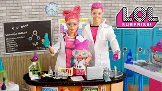 Barbie LOL Family School Morning Routine - Doll Classroom Science Experiments