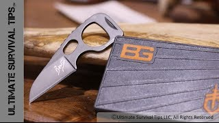 SHOT Show 2014 - Gerber Bear Grylls Survival Card Tool - Knife / LED / Fire Steel / Drivers / More