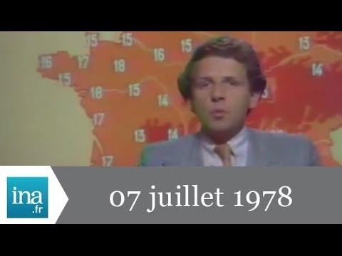 20h Antenne 2 du 07 juillet 1978 - froid sur la France - Archive INA