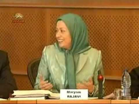 Maryam Rajavi in EU Parliament in Brussels (18 dec. 2007)