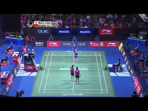 M. Matsutomo/A. Takahashi vs Wang X.L/Yu Y. | WD SF Match 1 - OUE Singapore Open 2015