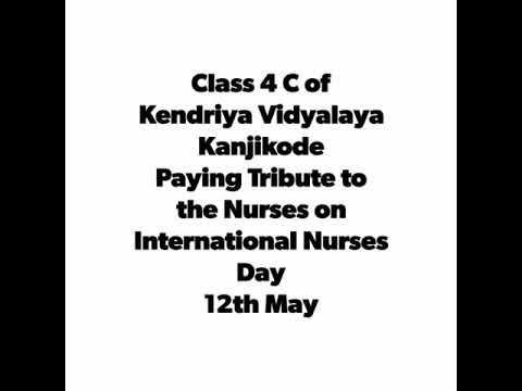 Tribute to the Nurses by Students on International Nurses' Day