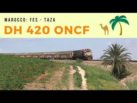 DH 420 ONCF con treno passeggeri tra Fes e Taza
