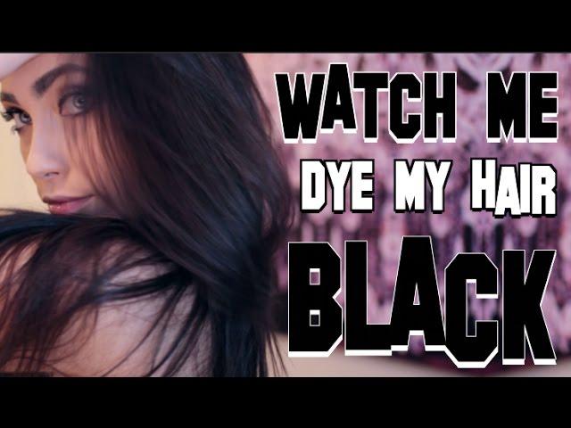WATCH ME DYE MY HAIR BLACK