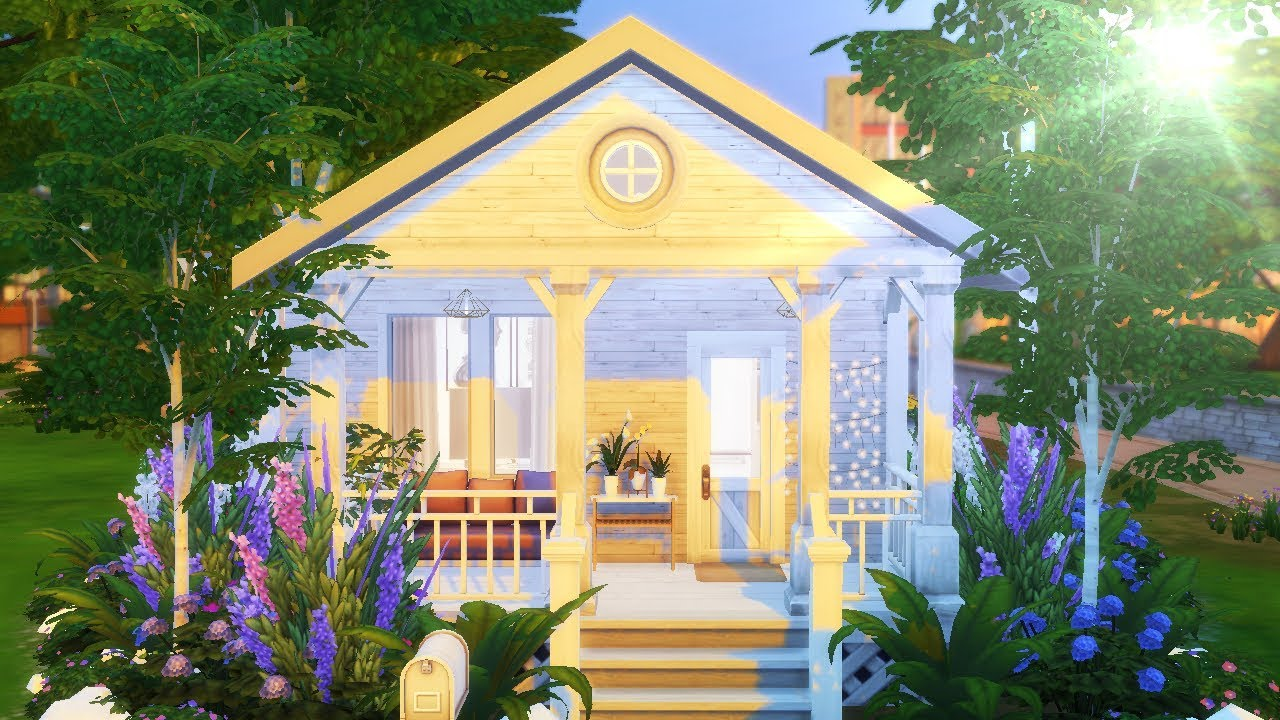 Solid White Tiny House The Sims 4 Speed Build Youtube