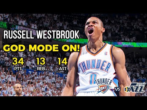 Russell Westbrook with a Huge Triple Double in the Win against the Jazz December 6