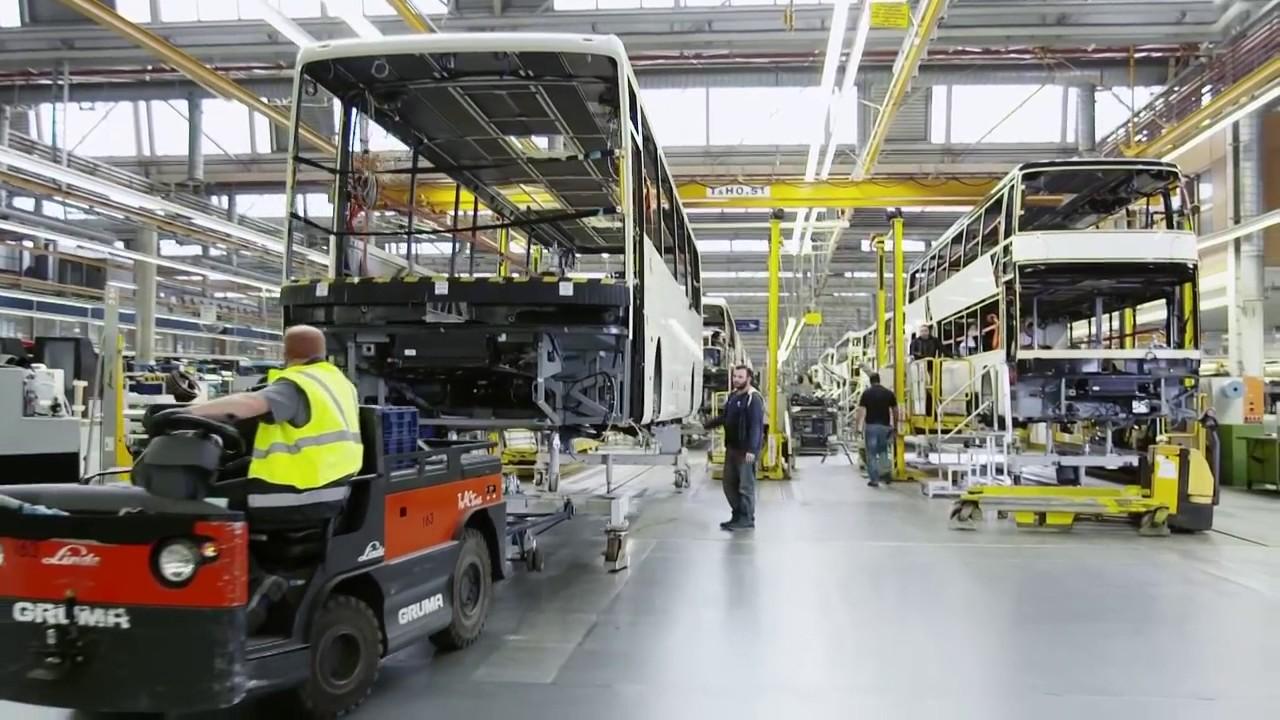 mercedes-benz bus brand setra production assembly line part 2