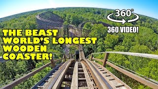 VR 360 The Beast World's Longest Wooden Roller Coaster POV Kings Island Ohio