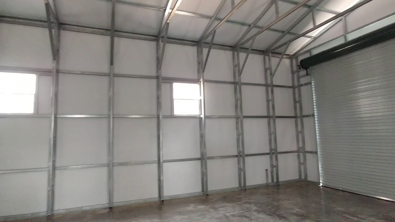 Carolina Carports Inc 40x40x14 Steel Building Interior