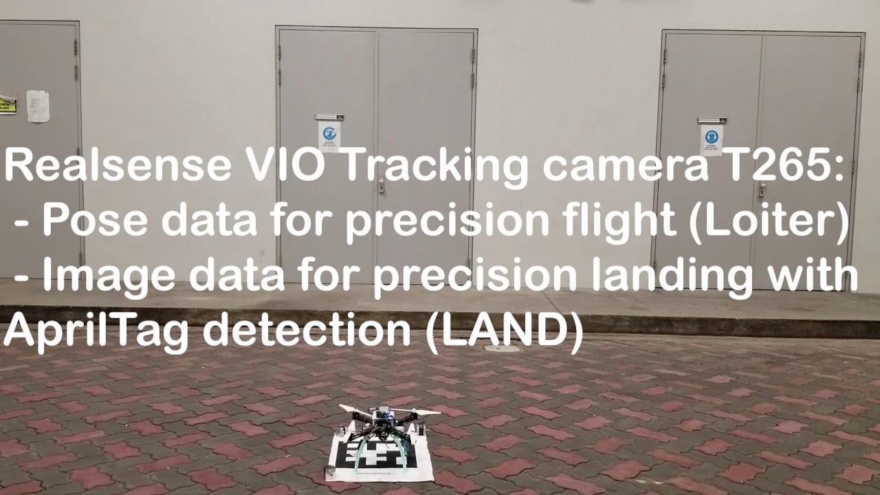 ArduPilot and Realsense T265 - Precision Landing with AprilTag 3 (ROS)
