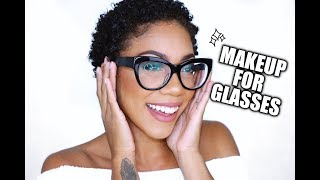 "MAKEUP FOR GLASSES + HOW TO AVOID THE ""DENT"""