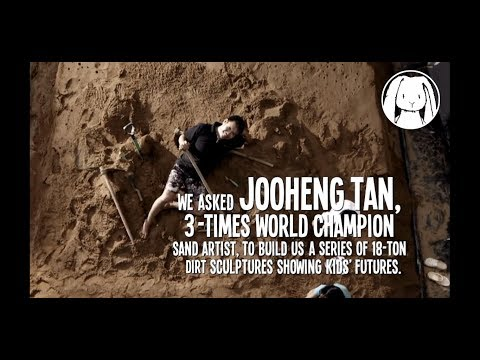 Dirt is Good    The making of Futures print campaign JOOheng Tan  world champion sand sculptor