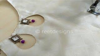 Stylish and Beautiful Neck Design cutting and stitching || Reet Designs