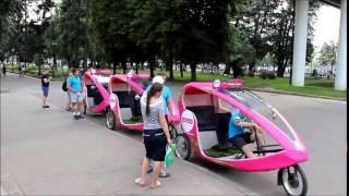 Велотакси в парке Горького. Спонсор ЛетоБанк
