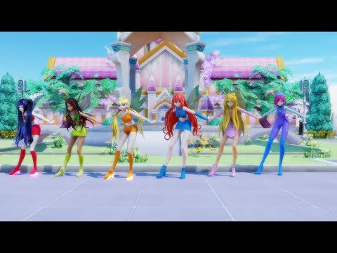 [MMD] WINX - Cafeteria Song (MLP: Equestria Girls)