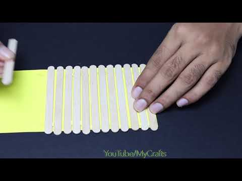 ICE-CREAM STICK CRAFTS IDEAS   WASTE MATERIAL REUSE IDEA   BEST OUT OF WASTE   MY CRAFTS