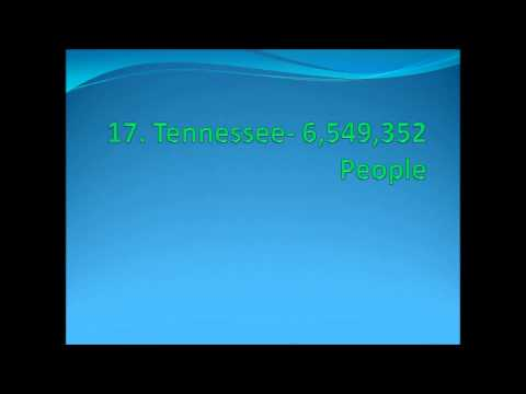 Top 25 Largest US States By Population 2014