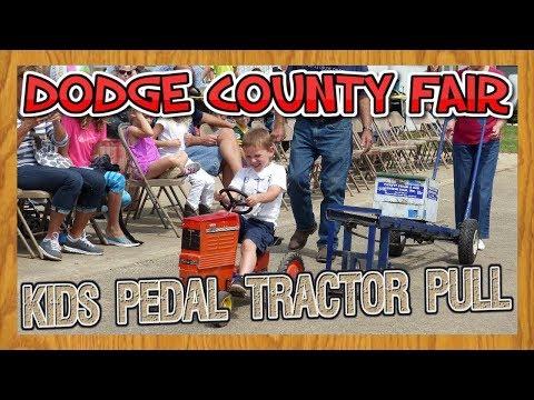 Dodge County Fair Kids Pedal Tractor Pull near Beaver Dam Wisconsin