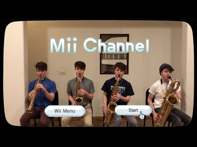 Mii Channel background music performed by saxophone quartet