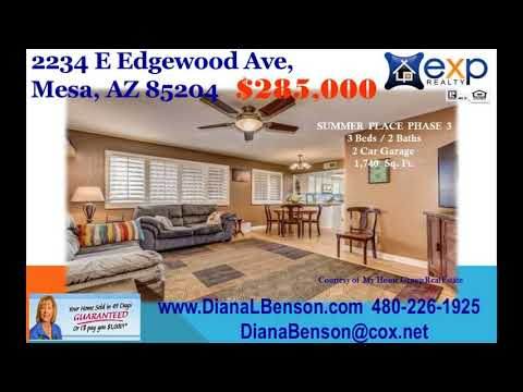3 BR  2 Bath home for sale in Mesa AZ 85204