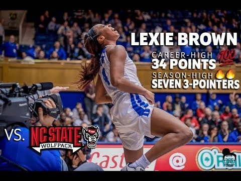 Lexie Brown CAREER-HIGH 34PTS Highlights vs NC State - 1.07.18