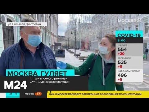 """Индекс самоизоляции в Москве упал после введения """"прогулочного режима"""" - Москва 24"""