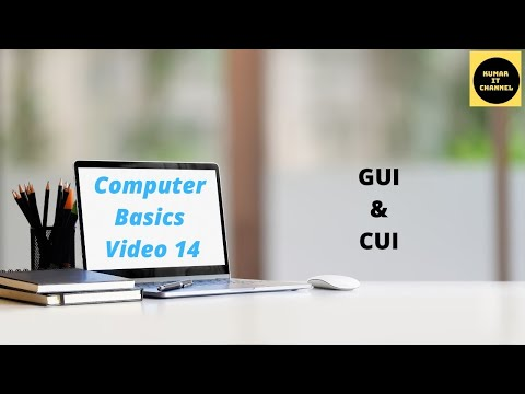 Computer Basic Tutorial Part 14 ,Graphical User Interface,Command line User Interface