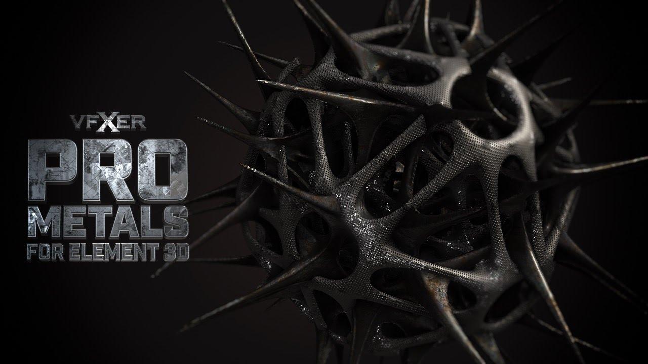 VFXER PRO Metals For Element 3D Materials Pack Download