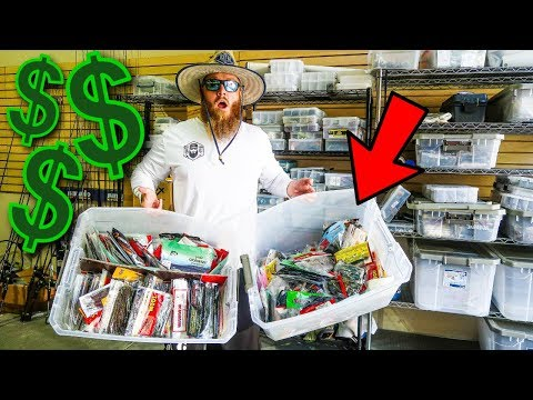 **BIG MONEY** Shopping In PRIVATE Fishing Tackle Garage (NOT Open To Public)