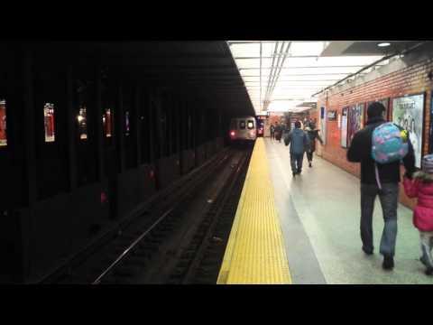 BMT Broadway Line: Queens & Brooklyn Bound R160 & R46 N, Q & R Trains @ 49th Street