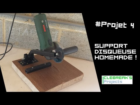 Projet 4 support disqueusemeuleuse homemade for Couper carrelage meuleuse