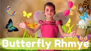 Butterfly Nursery Rhyme | Butterfly Butterfly Flutter Around | Rhymes for Kids