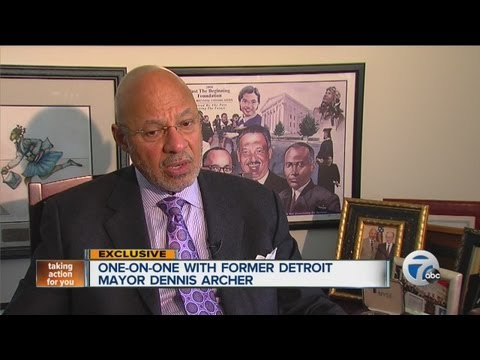 One-on-one with former Detroit mayor Dennis Archer