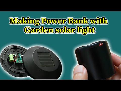 Making solar Power Bank with Garden solar light